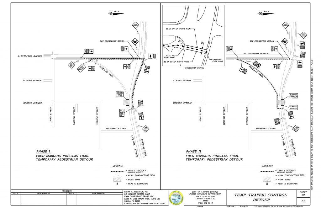 Pinellas Trail Closure MOT