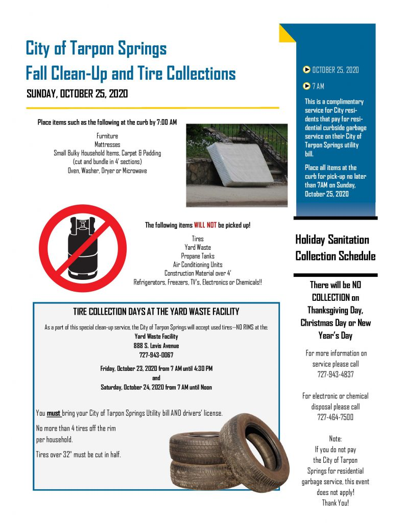 Fall Clean Up and Tire Collection