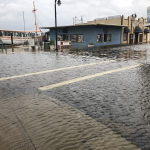 Tidal Flooding Dodecanese Boulevard at Athens